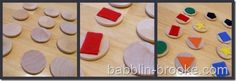 wood disc memory game