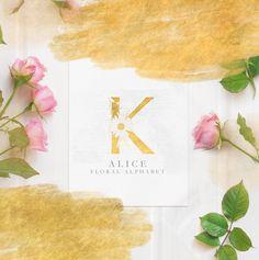 Quiero compartir lo último que he añadido a mi tienda de #etsy: Abecedario con letras doradas decoradas con flores, imágenes de letras con flores, abecedario dorado, alfabeto dorado, letras con flores png #goldletters #goldalphabet #floralaalphabet