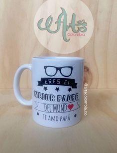 Eres el mejor papa del mundo, te amo Papá. personaliza tu mugs de cerámica con fotos, frases, o el nombre. Photo And Video, Mugs, Videos, Tableware, Instagram, Art, Names, Te Amo, Get Well Soon