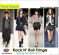 Rock N Roll Fringed FashionTrend for #SpringSummer2014 #spring2014 #fashion #ss2013 #trends #fringe