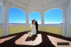 #Wedding #portrait of the #bride and the #groom #kissing by #DominoArts #Photography (www.DominoArts.com)