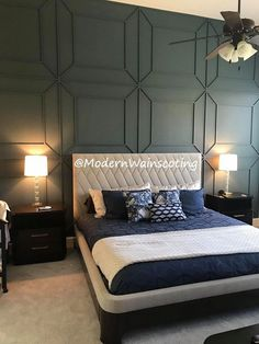 Communication is key. We're here for Wainscoting Bedroom, Feature Wall Bedroom, Bedroom Wall Designs, Bedroom Panel, Wayne Scotting Walls, Wainscoting Styles, Wall Lights Bedroom, Home Decor, Bedroom Wall