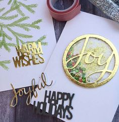 New dies from Savvy Stamps. Love the foiled look.