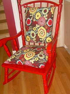 I Just Bought A Rocking Chair At A Thirft Shop And I Would Love To Make A  Cover Of Some Sort For It After I Paint It. | Furniture | Pinterest |  Rocking ...