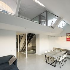 View the full picture gallery of Bauhaus, Agi Architects, Living Roofs, Attic Loft, Interior Architecture, Townhouse, New Experience, Bed, Pictures