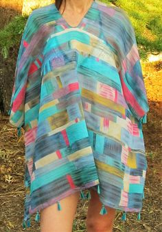 Poncho de Mujer 12,99€- CMK Cover Up, Beach, Dresses, Fashion, Beach Outfits, Summer Time, Blue, Women, Ponchos
