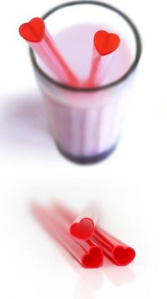 heart straws - cute for an engagement party