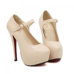 Party Pumps With High Heel and Buckle Design Cheap High Heels, Strappy High Heels, Hot High Heels, Tan Heels, High Heel Boots, High Heel Pumps, Womens High Heels, Women's Pumps, Pump Shoes