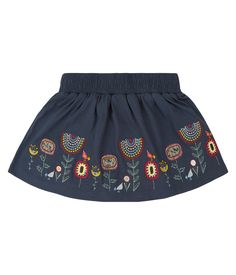 Nice in spring with leggings and in summer with sandals. The skirt from Sense Organics ends just above the knees and has a nice wide cut. Rock Flowers, Flower Skirt, Friend Wedding, Your Girl, Organic Cotton, Leggings, Navy, Sandals, Stylish
