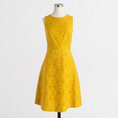 Factory jacquard eyelet dress : Day | J.Crew Factory
