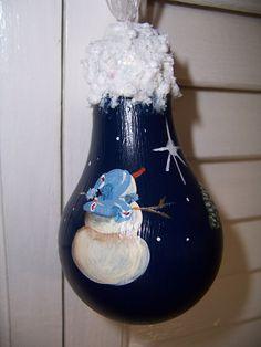 snowman use a small gourd instead of a light bulb