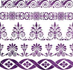 Free SVG | Home Decorative Stencil | Borders