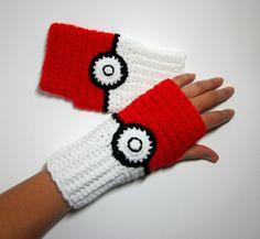 Pokeball inspirado Wristwarmers.