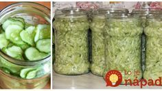 To je nápad! Home Canning, Preserves, Pickles, Ham, Cucumber, Pesto, Food And Drink, Yummy Food, Delicious Meals
