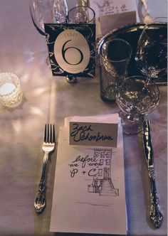 Table settings for Christine & Peter  #bellhousebrooklyn #brooklynweddings #piesnthighs #piesnthighscatering #tablesettings   Photo courtesy of Becky McNeel www.beckymcneelweddings.com