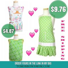 Valentines Day Special Aprons for $9.97 (girls) and $4.87 Toddlers. Free ShippingClick link in my bio @tomorrowsmom -read  follow the link in my Bio a@Tomorrowsmom at TomorrowsMom.com #tomorrowsmom .  #frugal #savings #deals #cosmicmothers #feminineenergy #loa #organic #fitmom #health101 #change #nongmo #organiclife #crunchymama #organicmom #gmofree #organiclifestyle #familysavings #frugal #healthyhabits #lifechanging #fitpeople #couponcommunity  #healthyppl #motherhood #organiccouponing