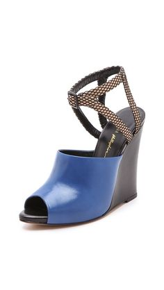 3.1 Phillip Lim Juliette Wedge Sandals -- Can't decide what I like more, the color or the shape... Or is it the whole combo with the open toe??  Gorgeous!!