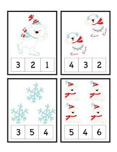 Put peg on the correct number pictures Preschool Printables, Preschool Lessons, Preschool Worksheets, Preschool Learning, Kindergarten Math, Classroom Activities, Teaching, Preschool Christmas, Christmas Activities