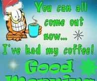 Funny Garfield Good Morning Quote