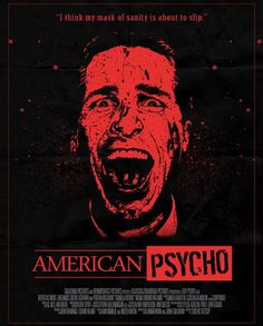 """Horror Movie Poster Art : """"American Psycho"""" by Daniel Ribeiro Horror Movie Posters, Cinema Posters, Movie Poster Art, Horror Films, Scary Movies, Good Movies, American Psycho Poster, Non Plus Ultra, Film Images"""