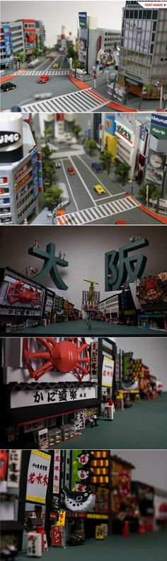 The detailed scenes of daily life in Tokyo's Asakusa district and Osaka by paper artist Yumiko Matsui