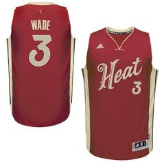 Men's Miami Heat Dwyane Wade adidas Red Christmas Day Swingman Jersey