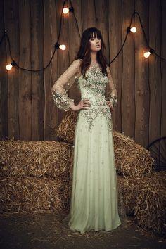 Jenny Packham Apache in Celadon   Bridal Collection 2017   Wedding Dresses   http://www.rockmywedding.co.uk/2017-bridal-collection-jenny-packham/