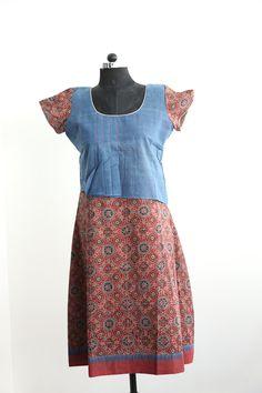 Ajrakh Khadi dress