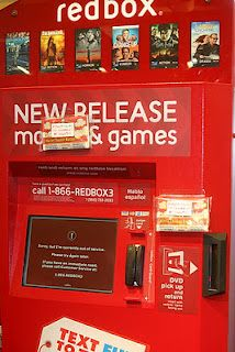 Random Act of Kindness idea!  Popcorn taped to a RedBox!  So cute!