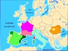 "Mapa de las lenguas romances en Europa. Entrada ""Las lenguas romances"" (05-07-2015), en el blog ""Littera"". Enlace: http://litteraletra.blogspot.com.es/2015/07/las-lenguas-romances.html"
