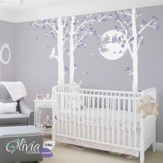 Large Tree vinyl wall decal Mural Full Moon by theOliviaDesign, $108.00