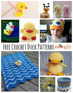 Recently I got a reader request for duck patterns - and I do love to fill requests! So here are 10 free duck crochet patterns!
