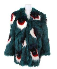 Meadham Kirchhoff Multicolor Faux Fur Coat in A Blend Of Acrylic Green Fur Coat, Meadham Kirchhoff, Little Monsters, Shaggy, Jack Frost, Winter Collection, Unique Fashion, Mantel, Faux Fur