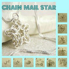 DIY Chain Maille Stars - cool earrings or pendant!