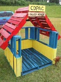 Casa para niños de pallet
