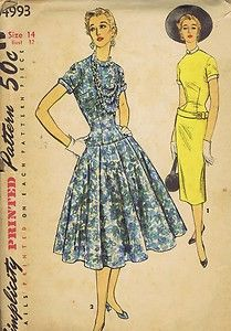 Vintage 1968 mccall 39 s 9197 sewing pattern misses 39 dress for Simplicity craft pattern 4993