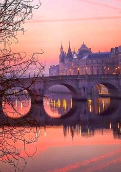 Pont Neuf across the river Seine in Paris, France