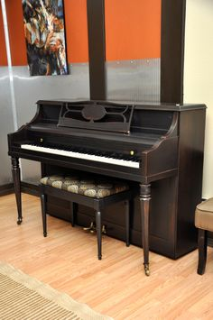 Just got an old piano...looks like this (shape), but needs to be refinished. I like this