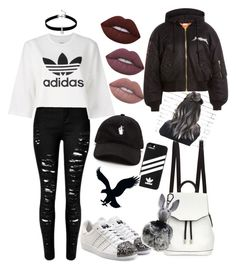 """""""Untitled #38"""" by poulsentiril on Polyvore featuring rag & bone, adidas Originals, adidas, Lime Crime, Loren Olivia, Vetements, Kendall + Kylie and American Eagle Outfitters"""