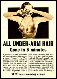 All under arm hair...