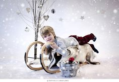 Christmas photo session - Child photography by Nathalie Graafland