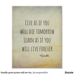 Gandhi quote poster wall art vintage style #quotes #Gandhi #poster