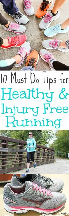 10 Must Do Tips for Healthy & Injury Free Running. Ways for runners to train for races without getting sick or injured or get running injuries. Includes simple ways to prevent common running injuries from a marathoner! / Running in a Skirt