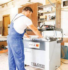 Mașina de găurit multiplu Felder FD 21 professional în atelierul Sebilux Invest. Investing, 21st, Atelier