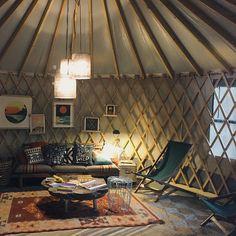 Awesome yurt interior.