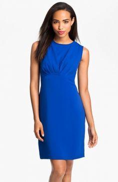 Pleat Bodice Sheath Dress. http://www.vudress.com/pleat-bodice-sheath-dress-p-2313.html