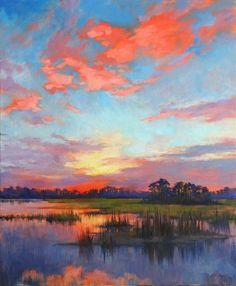 Landscape Artwork, Watercolor Landscape, Abstract Landscape, Watercolor Paintings, Sky Painting, Pastel Art, Art Plastique, Painting Inspiration, Canvas Art