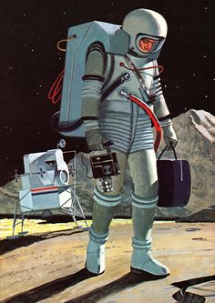 From The Question and Answer Book of Space by Ruth A. Sonneborn. Illustration by John Polgreen, 1965.