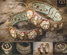 bridal jewelry for the radiant bride Indian Jewelry, Indian Bangles, Jewelry Patterns, Jewelery, Gold Jewelry, Modern Jewelry, Diamond Jewelry, Jewelry Box, Wedding Jewelry
