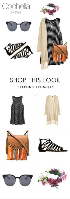 """""""Cochella Look"""" by carolinahopen ❤ liked on Polyvore featuring Chloé, Jimmy Choo, Quay and Rock 'N Rose"""